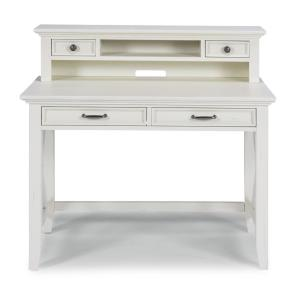 Seaside Lodge White Student Desk and Hutch