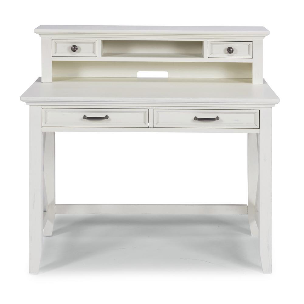Seaside Lodge White Student Desk and Hutch
