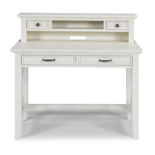 HOMESTYLES Seaside Lodge White Student Desk and Hutch