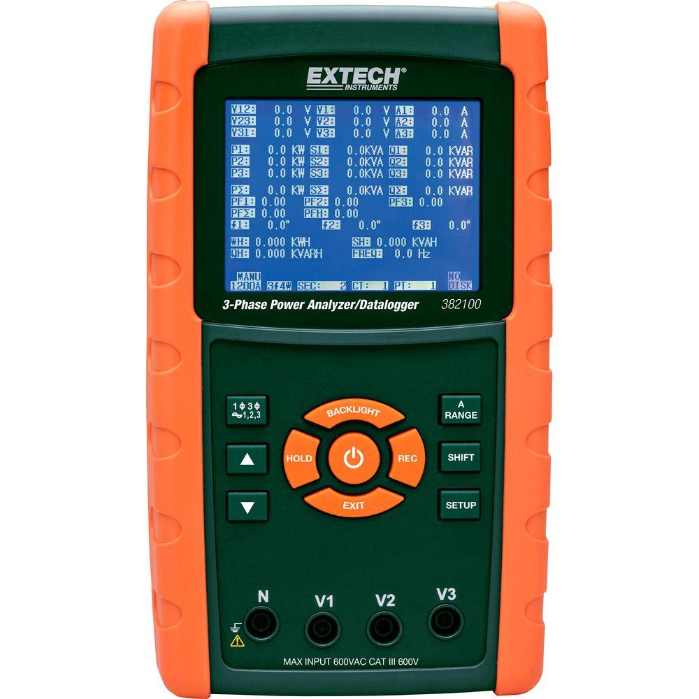 Extech Instruments 1,200 Amp 3-Phase Power Analyzer/Datalogger ...