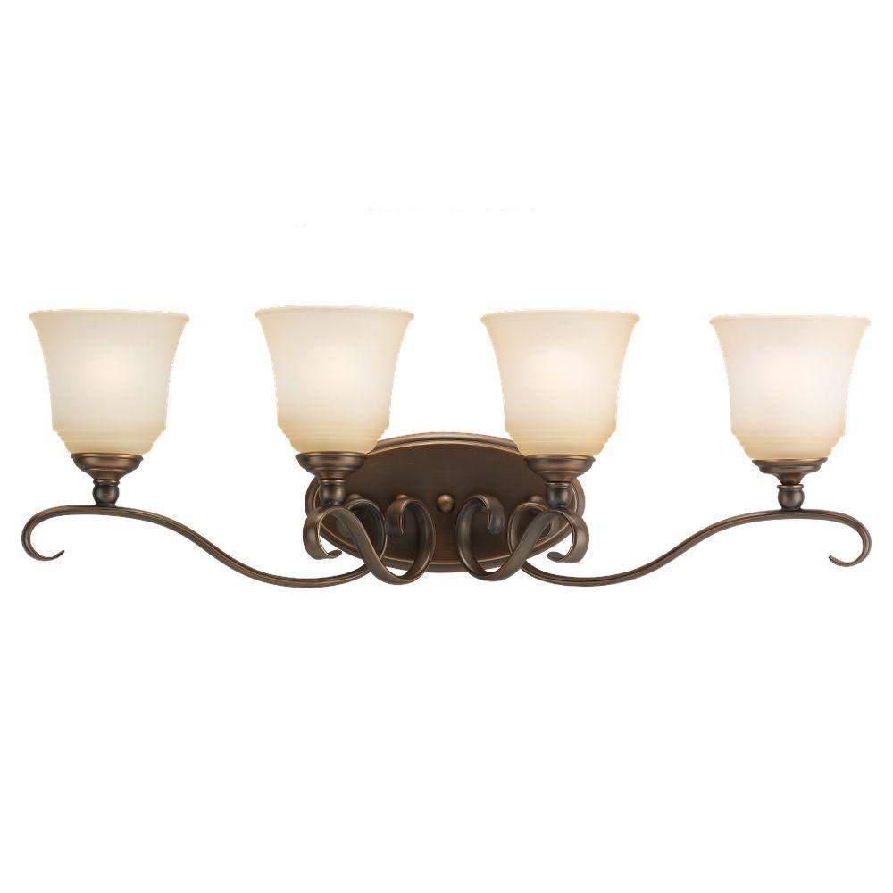 Sea Gull Lighting Parkview 4-Light Russet Bronze Vanity Light