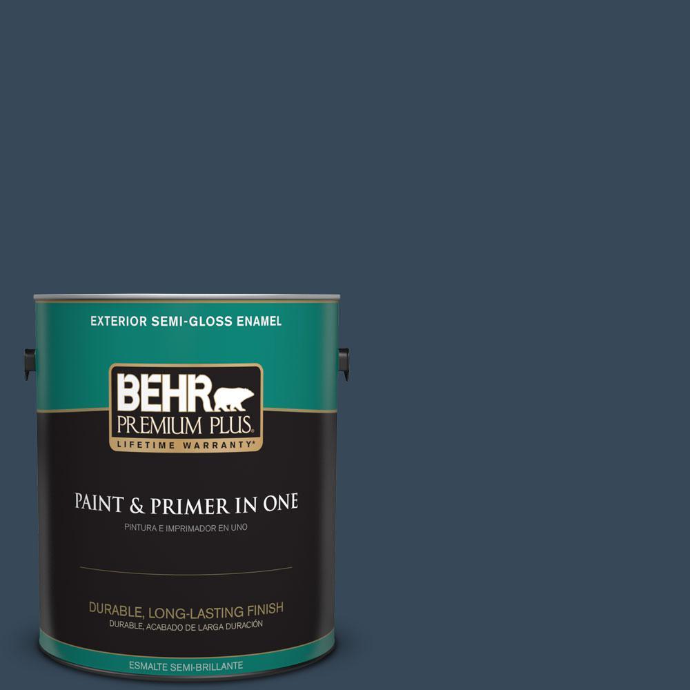 1-gal. #ECC-30-3 Night Tide Semi-Gloss Enamel Exterior Paint