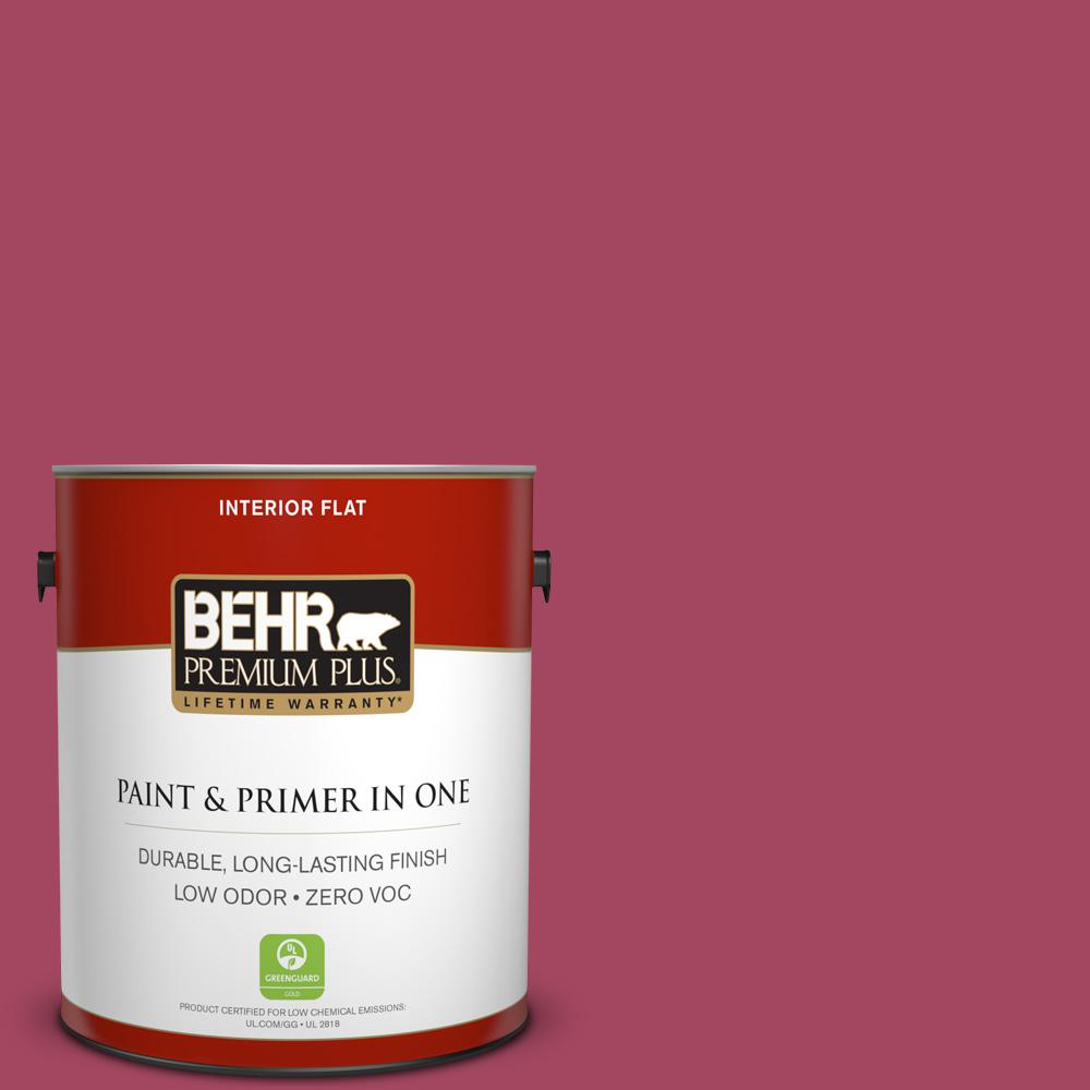 BEHR Premium Plus 1-gal. #120D-5 Glazed Raspberry Zero VOC Flat Interior Paint