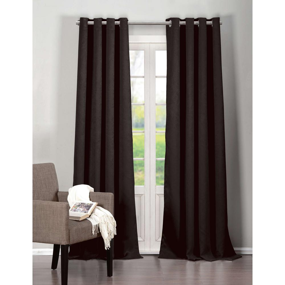 Duck River Blackout Quincy 84 in. L Extra Width Grommet Panel in Black