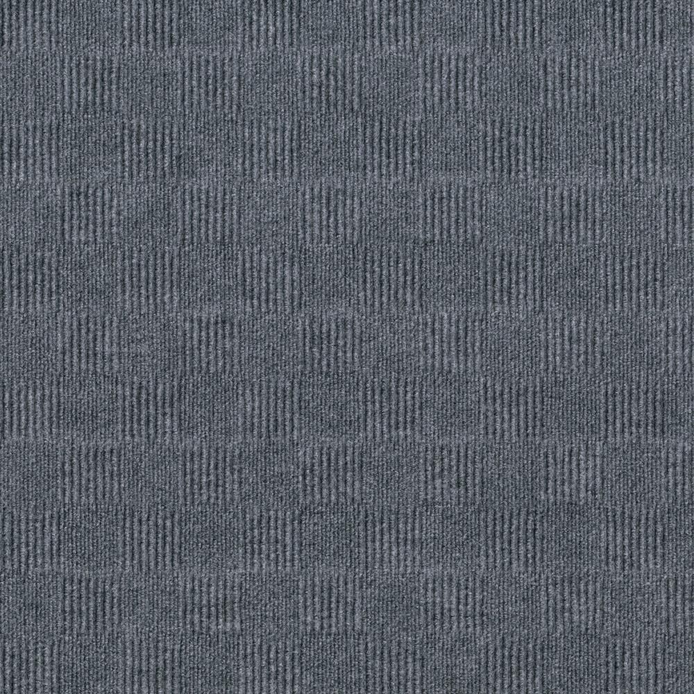 Foss Premium Self-Stick First Impressions City Block Sky Grey Texture 24 in. x 24 in. Carpet Tile (15 Tiles/Case)