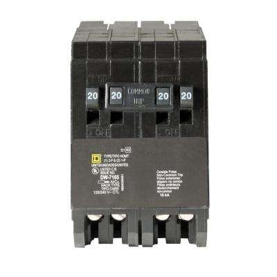 Homeline 2-20 Amp Single-Pole 1-20 Amp 2-Pole Quad Tandem Circuit Breaker