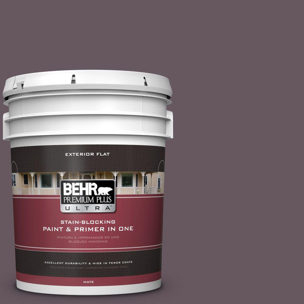 BEHR Premium Plus Ultra 5-gal. #N100-6 Urban Legend Flat Exterior Paint
