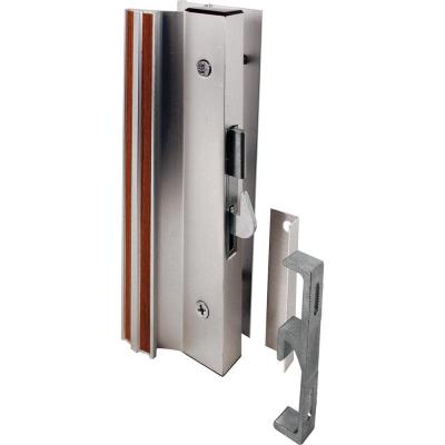 Diecast Mill Finish, Sliding Patio Door Surface Mount Handle with Hook Latch