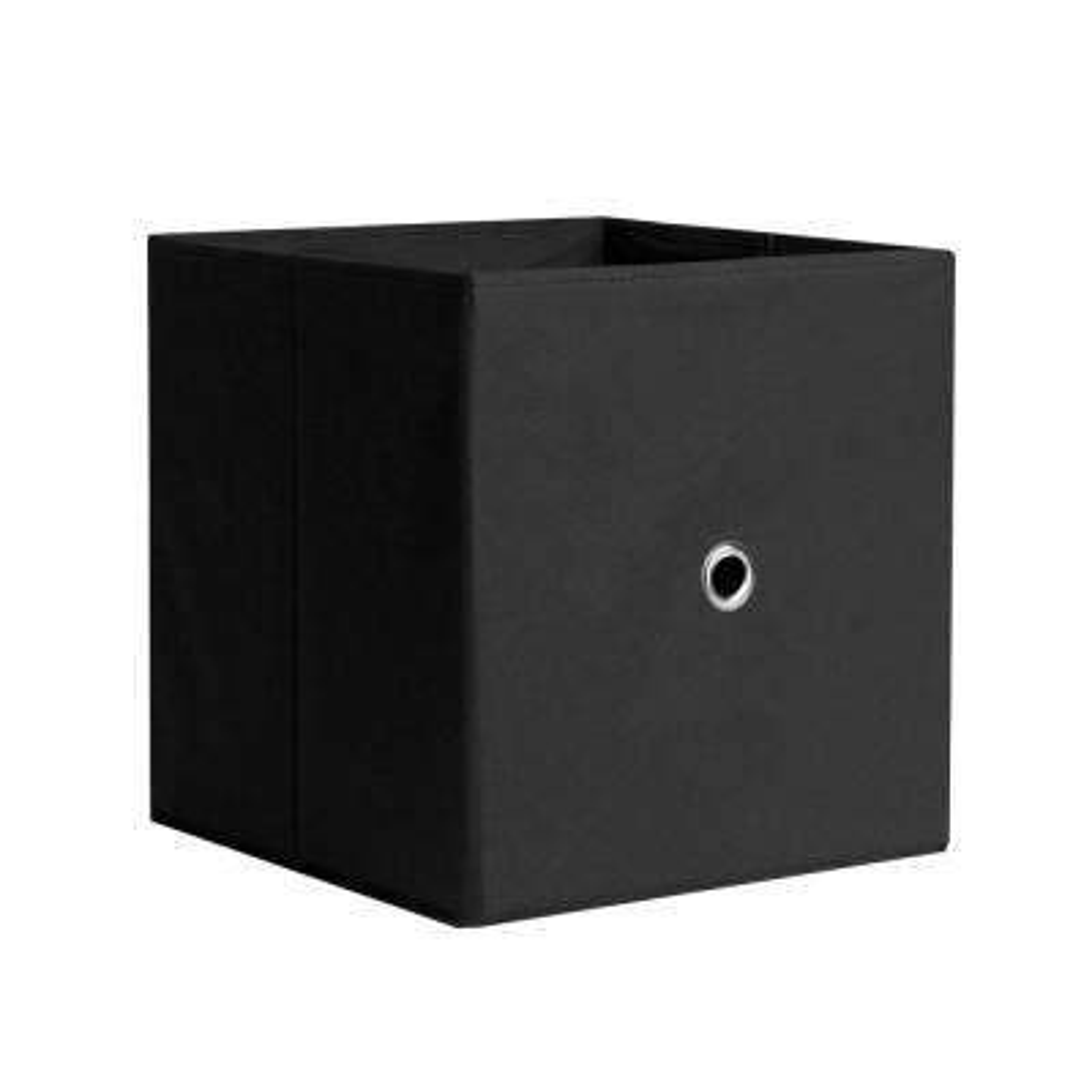 12.5 in. x 12.5 in. Black Fabric Storage Bin