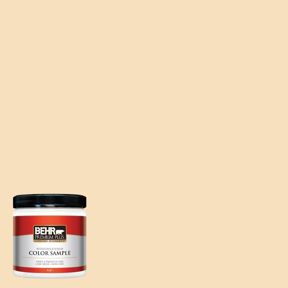 BEHR Premium Plus 8 oz. #350E-3 Oklahoma Wheat Interior/Exterior Paint Sample