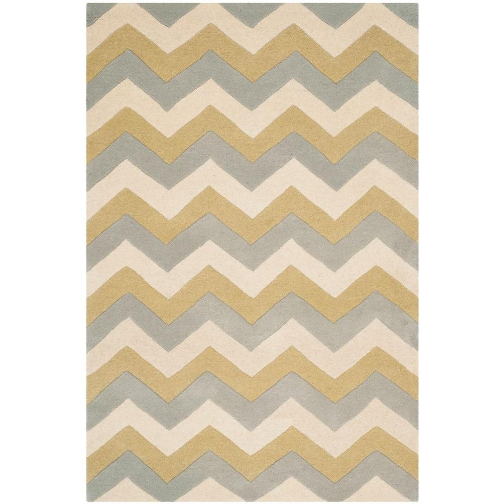 Chatham Gray/Gold 2 ft. x 3 ft. Area Rug