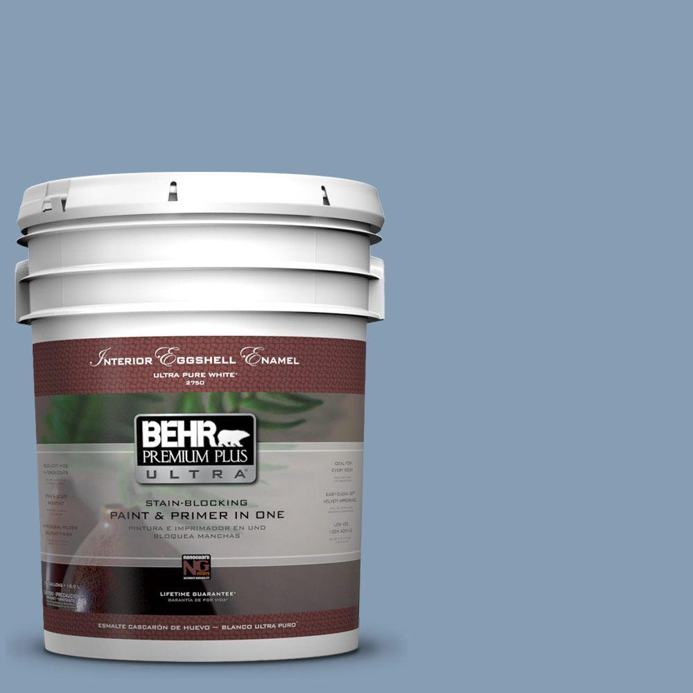 BEHR Premium Plus Ultra 5-gal. #S520-4 Private Jet Eggshell Enamel Interior Paint