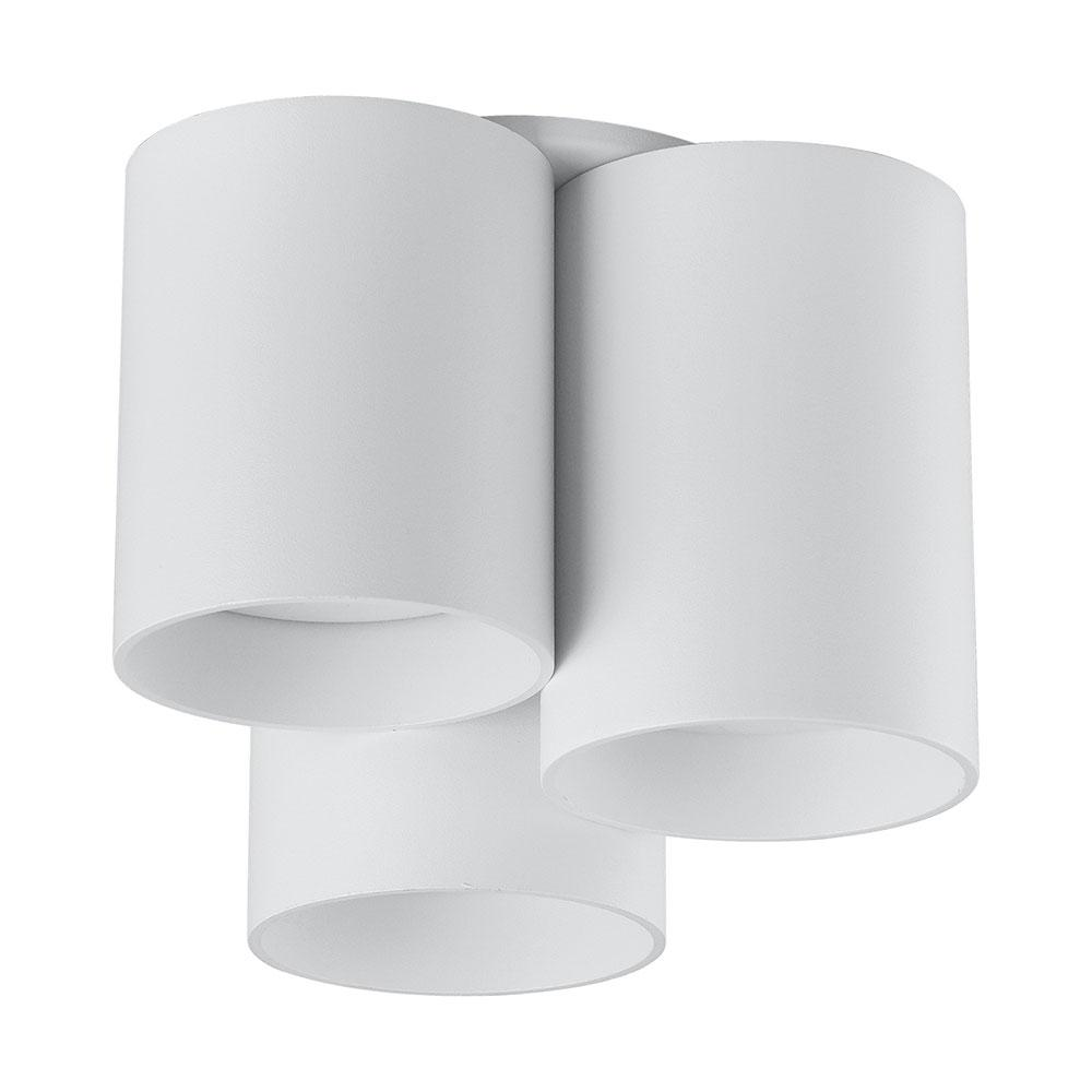 Eglo Vistal 3-Light White Shades Ceiling Light