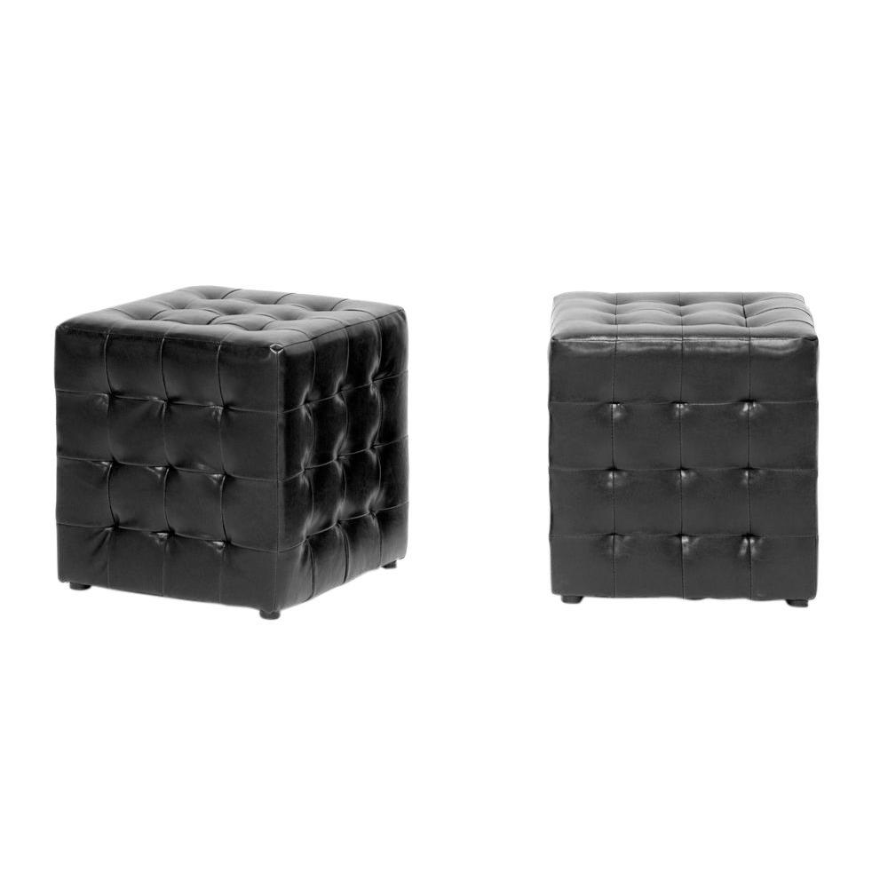 Siskal Black Accent Ottoman (Set of 2)