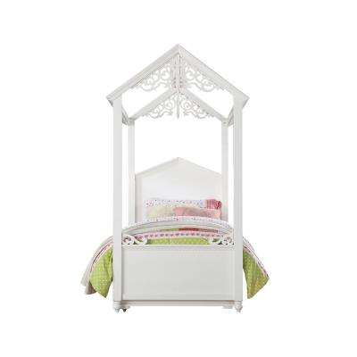 Rapunzel White Twin Bed