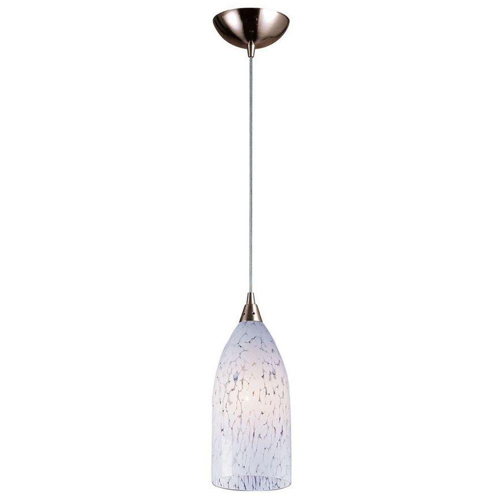 Titan Lighting Verona 1-Light Satin Nickel Ceiling Mount Pendant-TN ...