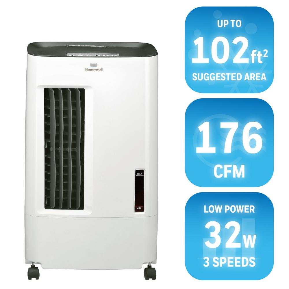Honeywell 176 CFM 3 Speed Portable Evaporative Cooler For 102 Sq.  Ft. CSO71AE   The Home Depot