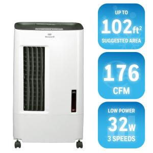 Honeywell 176 CFM 3-Speed Portable Evaporative Cooler for 102 sq. ft. by Honeywell