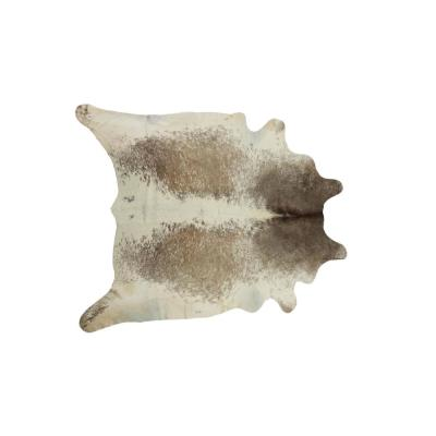 Kobe Salt and Pepper Taupe/White 6 ft. x 7 ft. Cowhide Rug