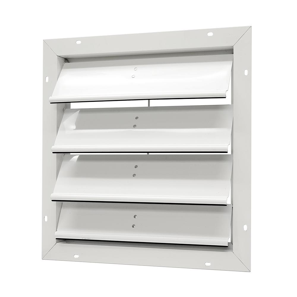 Master Flow 20 in. Aluminum Gable Mount Automatic Shutter