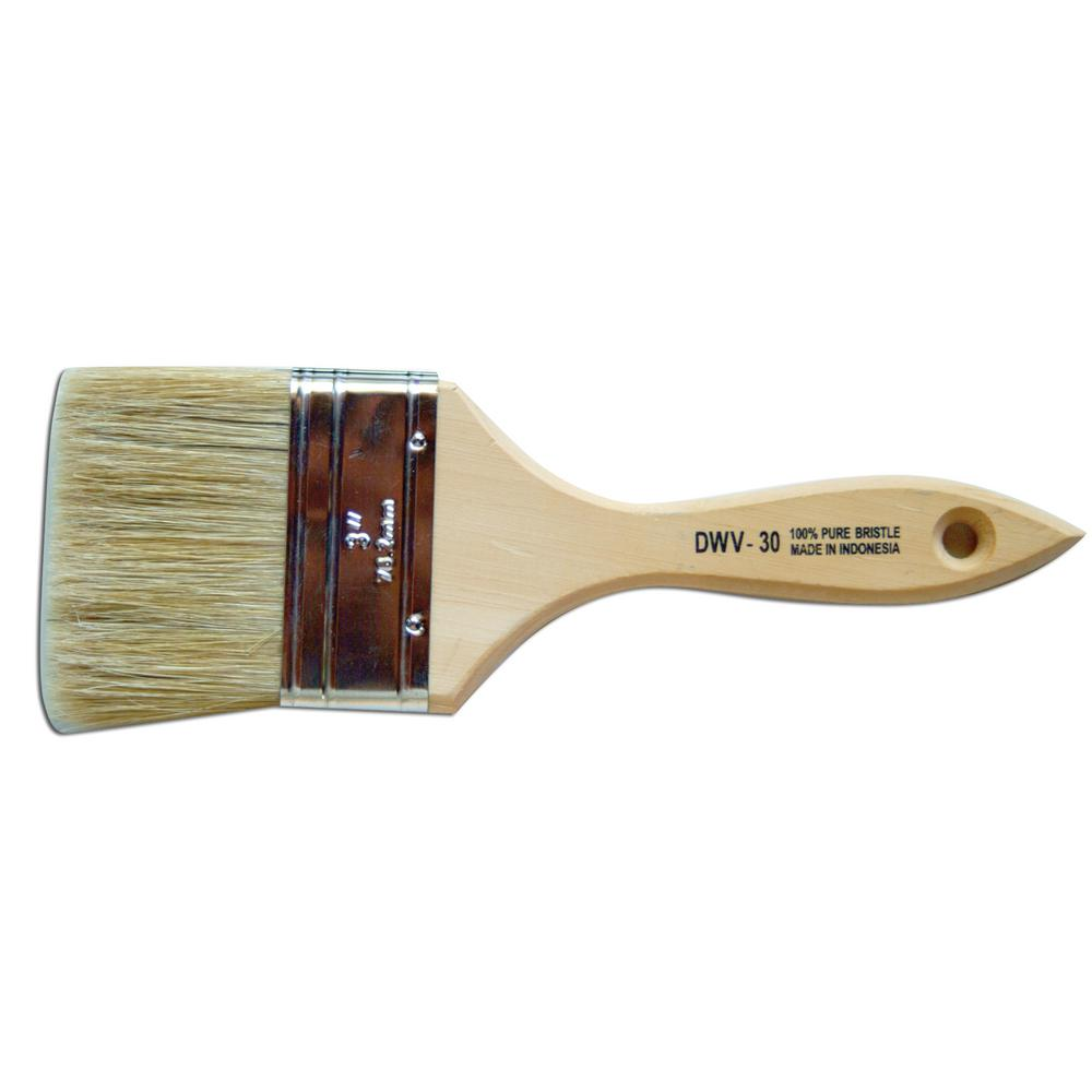 premier 3 in chip brush white bristle double thick 12 pack hdwv30