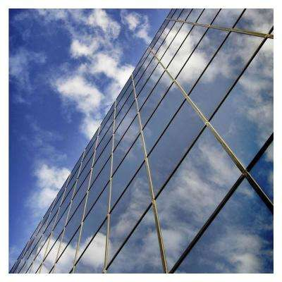 24 in. x 50 ft. RPRGY Silver/Gray Premium One Way Mirror Privacy Window Film