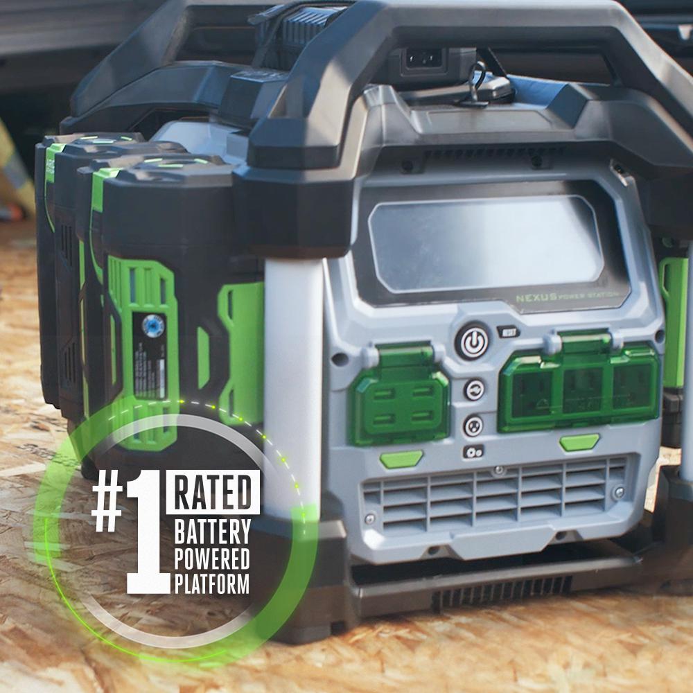 Nexus 3000-Watt 56V Lithium-Ion Power Station Portable Generator, Four 5.0 Ah Batteries Included