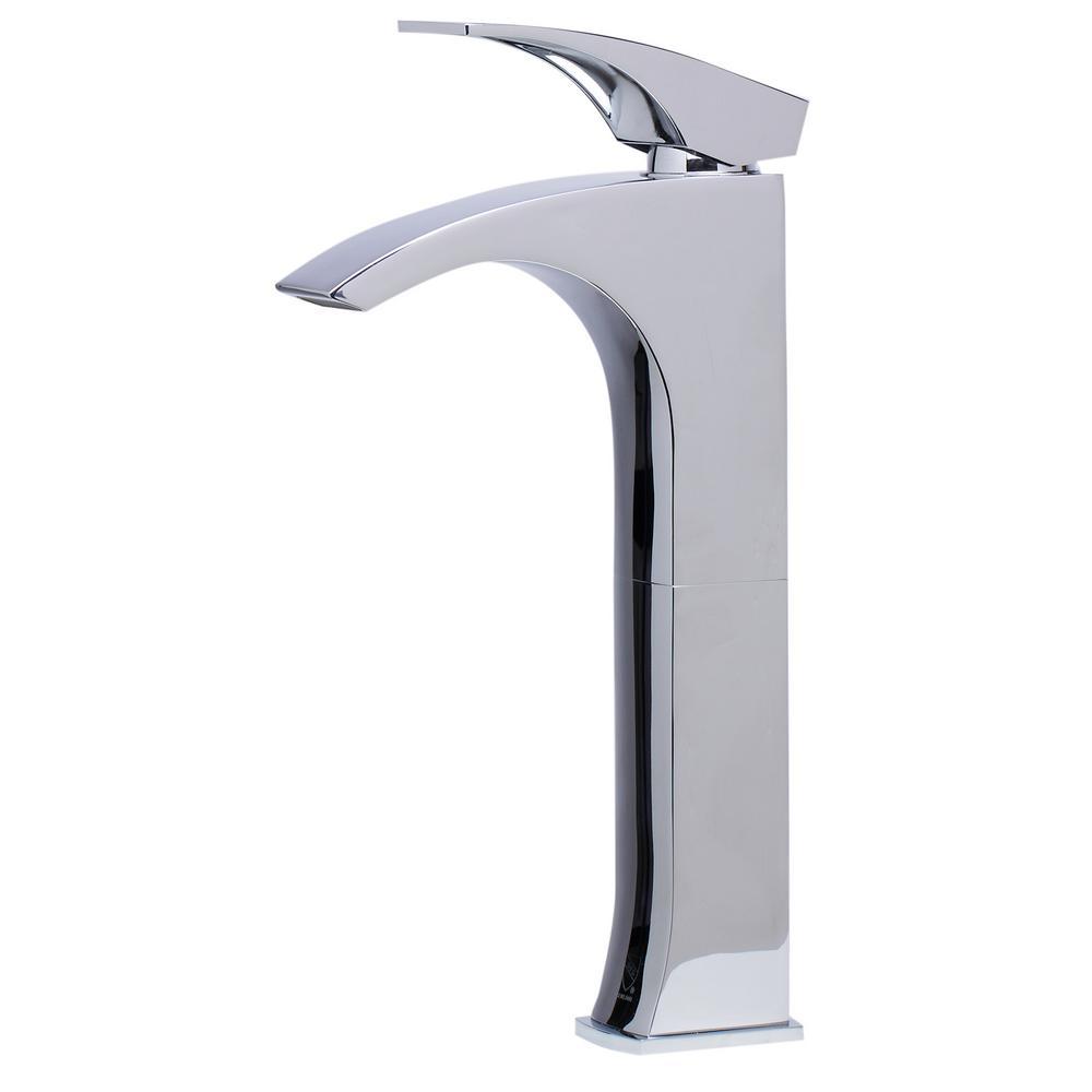 AB1587-PC Single Hole Single-Handle Bathroom Faucet in Polished Chrome
