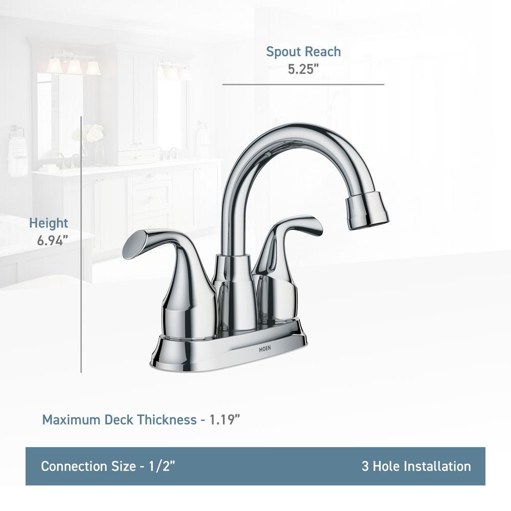 Moen Idora 4 In Centerset 2 Handle Bathroom Faucet With 3 Piece Bath Hardware Set Mediterranean Bronze