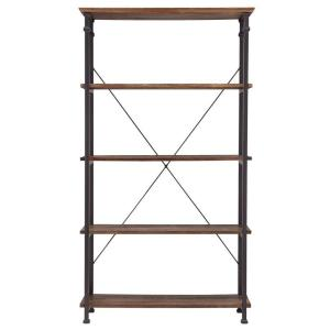 Grove Place Distressed Cocoa Open Bookcase