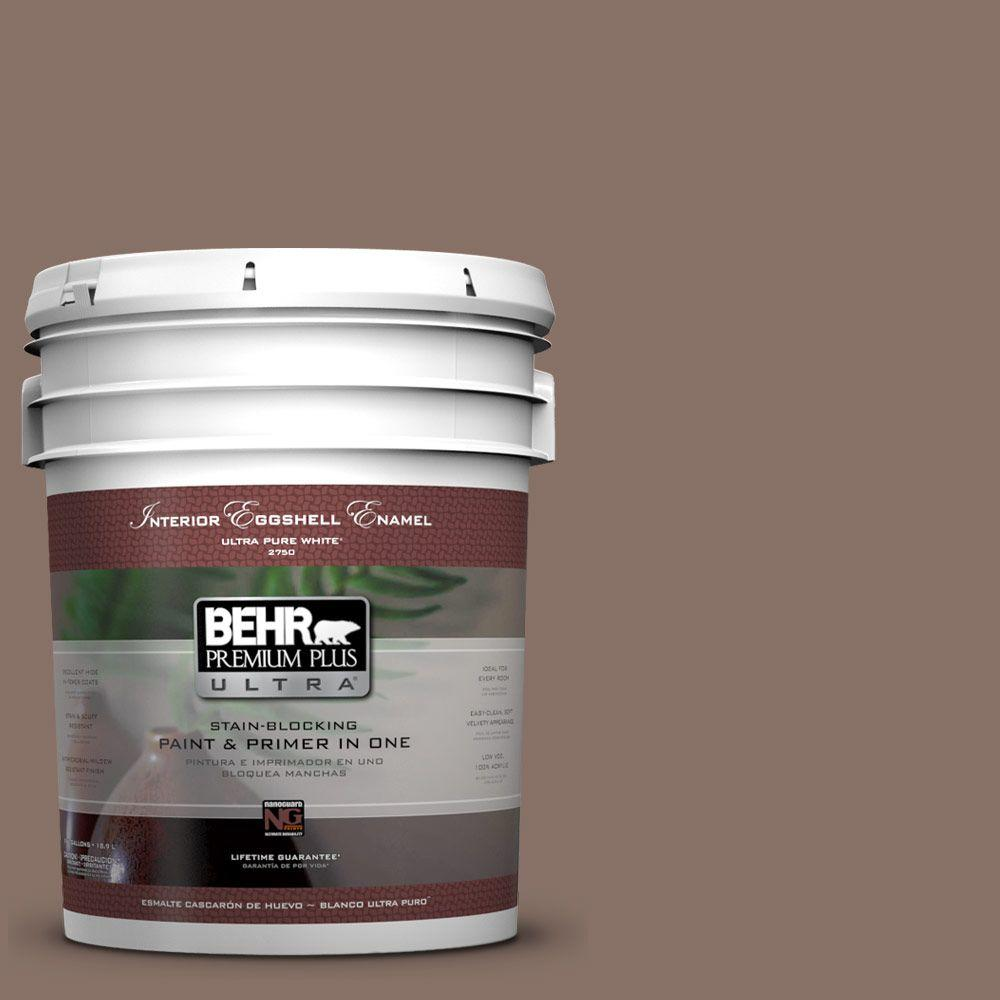 BEHR Premium Plus Ultra 5-gal. #770B-6 Oakwood Brown Eggshell Enamel Interior Paint