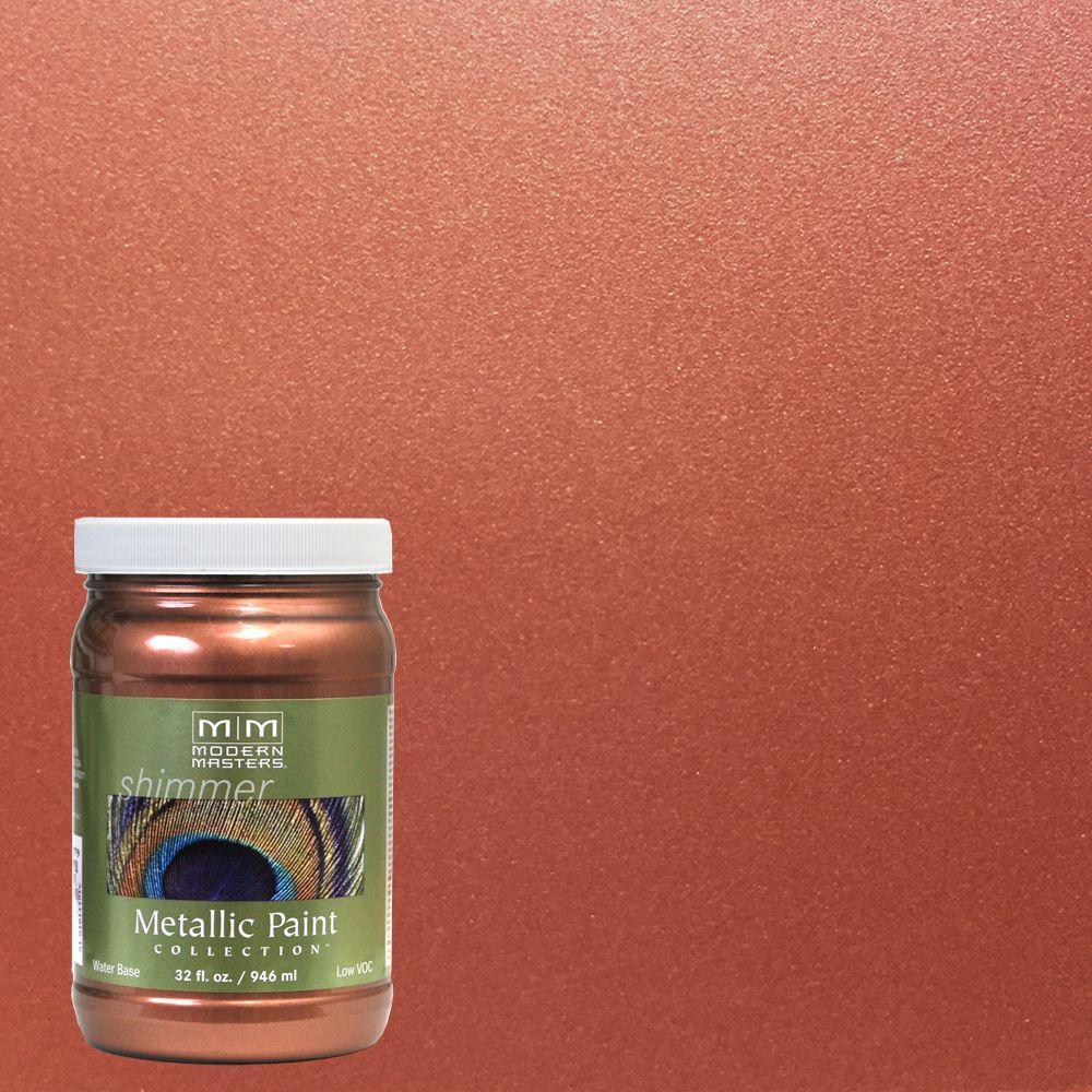 1 qt. Copper Penny Water-Based Satin Metallic Interior/Exterior Paint