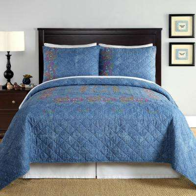 Kelly Denim Blue Standard Sham