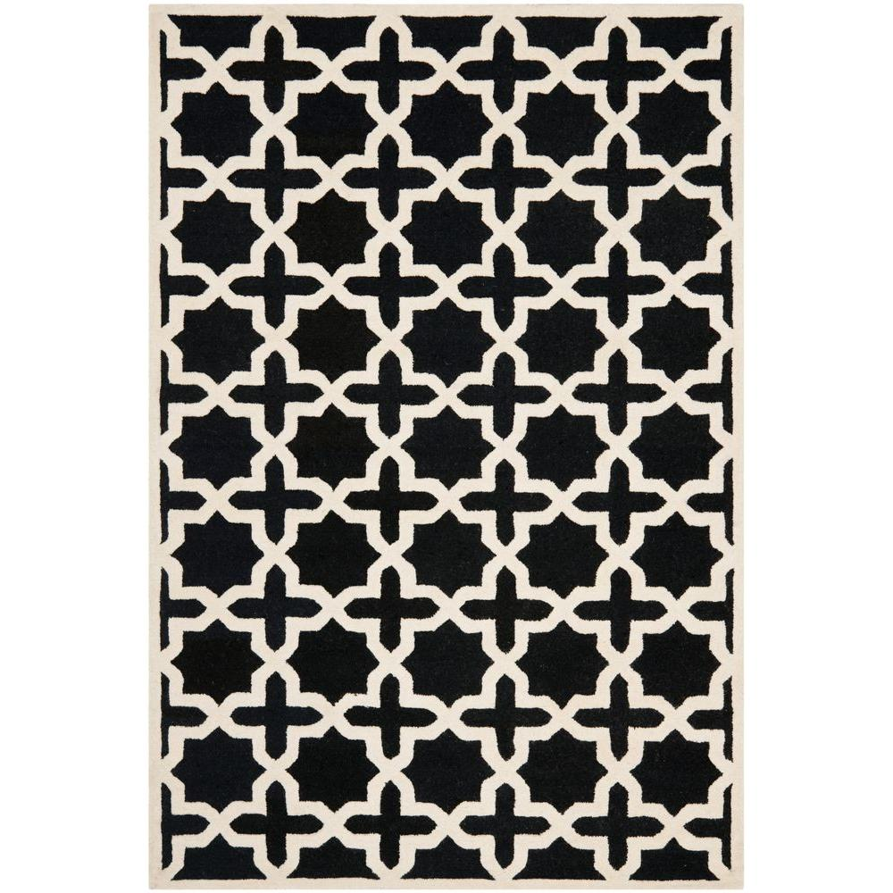Cambridge Black/Ivory 6 ft. x 9 ft. Area Rug