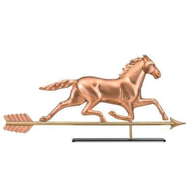 Large Horse Copper Table Top Sculpture - Traditional Home Decor