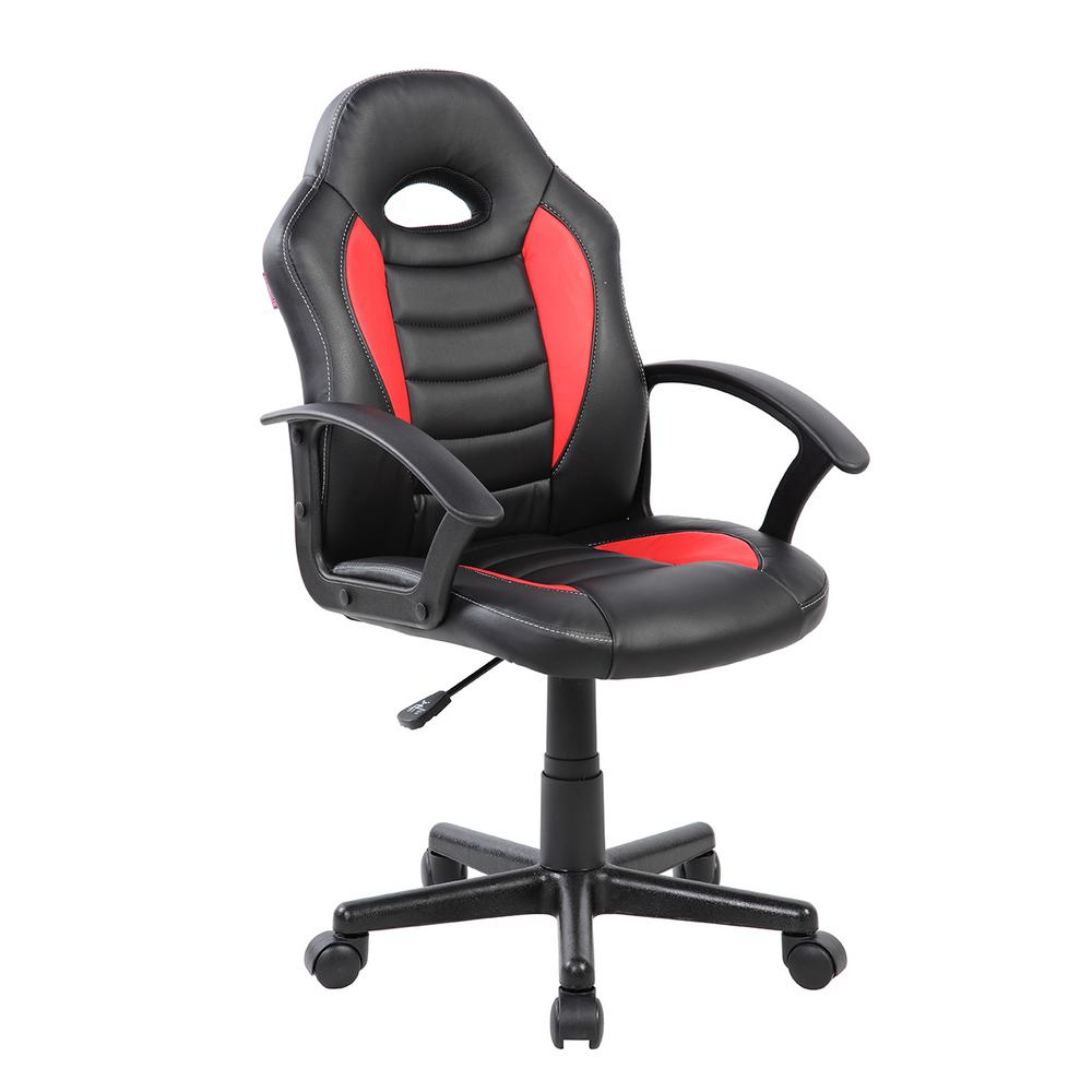 techni mobili red kid 39 s gaming and student racer chair with head support rta ks40 red the home. Black Bedroom Furniture Sets. Home Design Ideas
