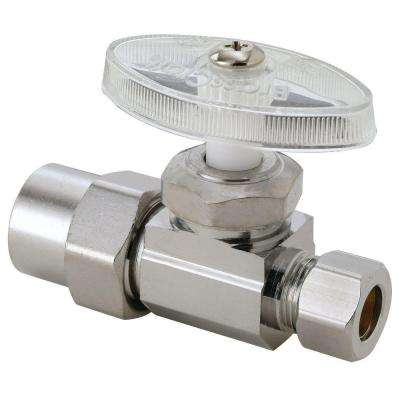 1/2 in. Nominal CPVC Inlet x 3/8 in. O.D. Compression Outlet Multi-Turn Straight Valve