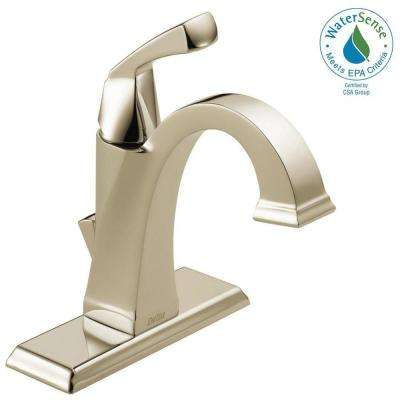 Dryden Single Hole Single-Handle Bathroom Faucet with Metal Drain Assembly in Polished Nickel