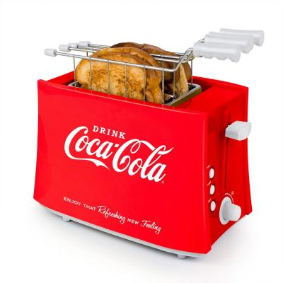 600 W Four Slice Red Coca-Cola Grilled Cheese Toaster