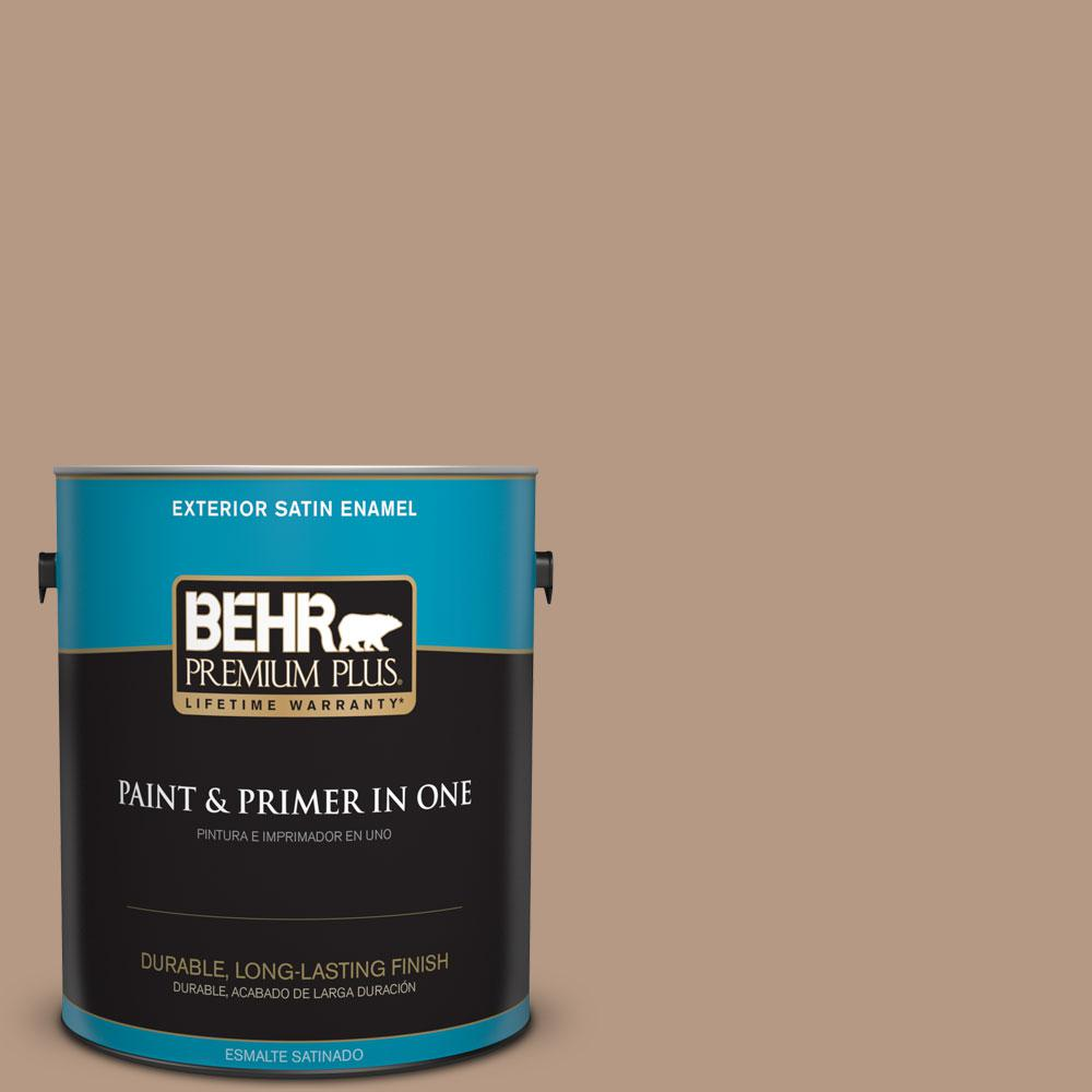1-gal. #250F-4 Stone Brown Satin Enamel Exterior Paint