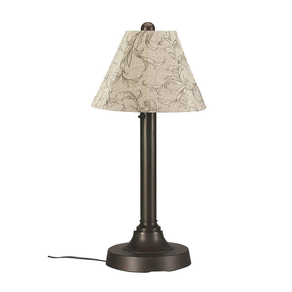 San Juan 30 in. Bronze OutdoorTable Lamp with Bessemer Shade