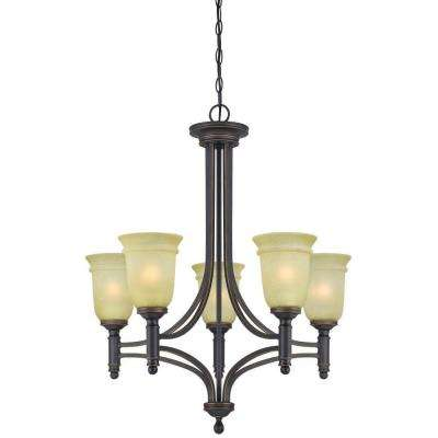 Montrose 5-Light Oil Rubbed Bronze with Highlights Chandelier