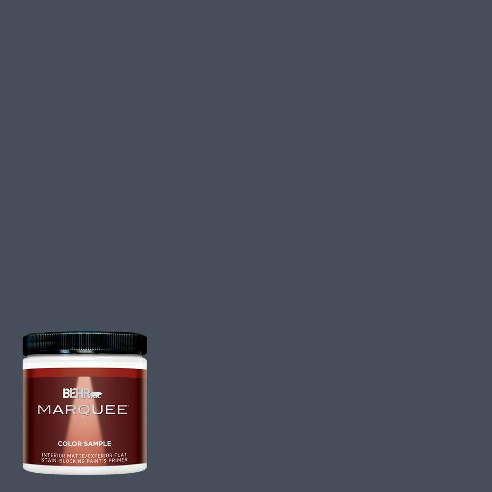 BEHR MARQUEE 8 oz. #MQ5-10 Secret Society One-Coat Hide Matte Interior/Exterior Paint and Primer in One Sample