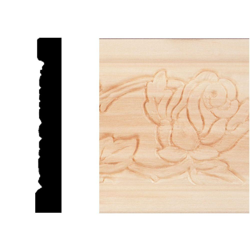 House Of Fara 3/8 In. X 2-1/2 In. X 8 Ft. Hardwood Emboss