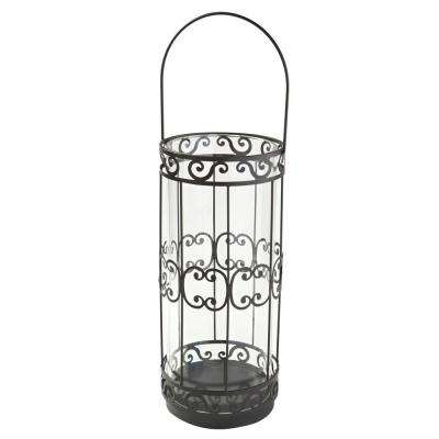 20 in. Metal Lantern with Glass