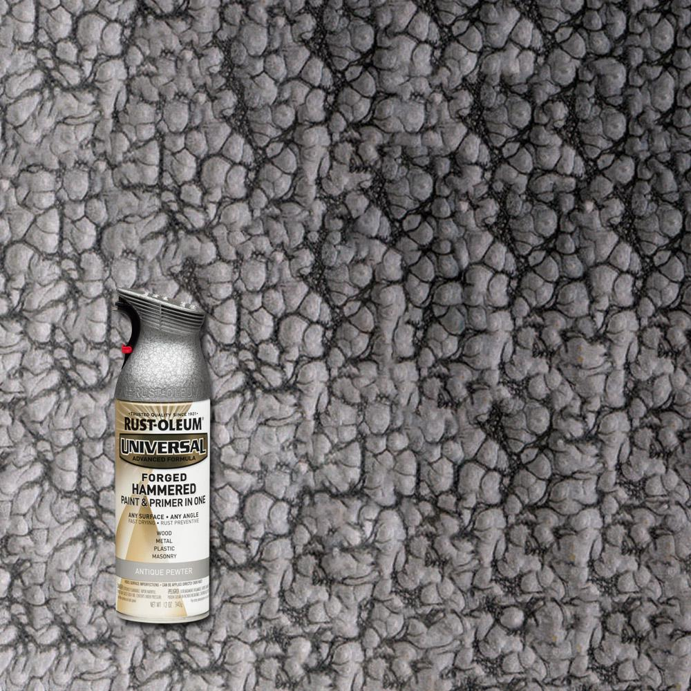 Rust-Oleum Universal 12 oz. All Surface Forged Hammered Antique Pewter Spray Paint and Primer in One