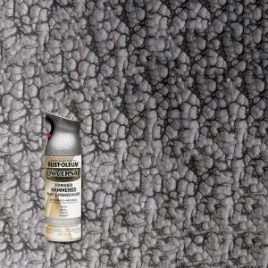 12 oz. All Surface Forged Hammered Antique Pewter Spray Paint and primer in 1