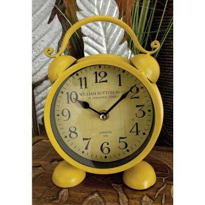 9 in. x 6 in. Alarm-Style Round Table Clocks (Set of 4)