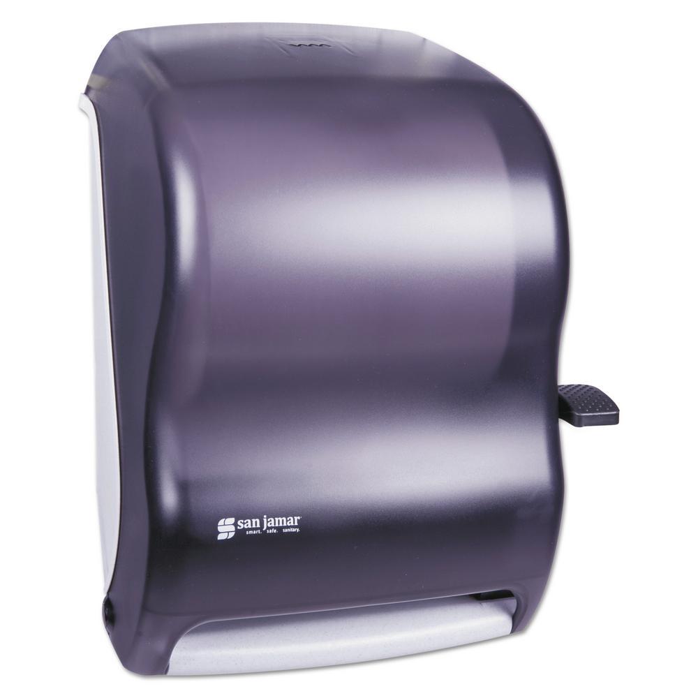 Black Lever Roll Paper Towel Dispenser Without Transfer Mechanism Sjmt1100tbk The Home Depot