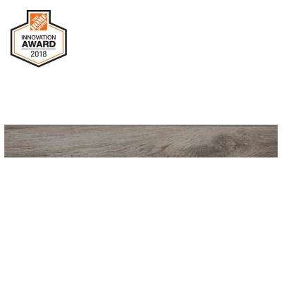 Shadow Wood 3 in. x 24 in. Glazed Porcelain Bullnose Floor and Wall Tile (0.48 sq. ft. / piece)